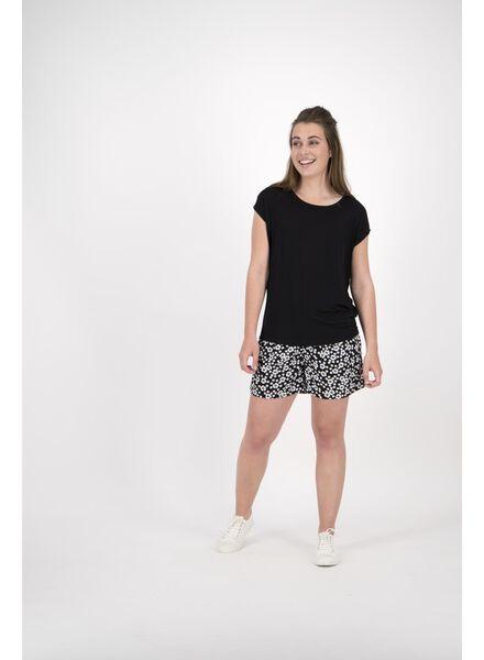 damesshort zwart/wit zwart/wit - 1000013598 - HEMA