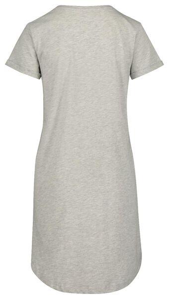 dames nachthemd grijsmelange grijsmelange - 1000018929 - HEMA