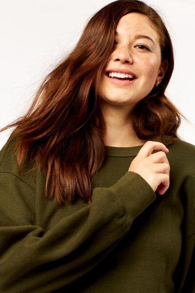 dames sweater donkergroen donkergroen - 1000024845 - HEMA