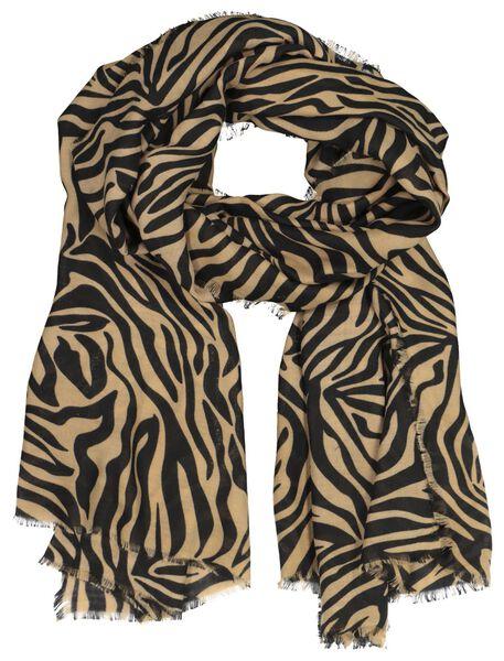damessjaal 200x80 camel zebra - 1790016 - HEMA