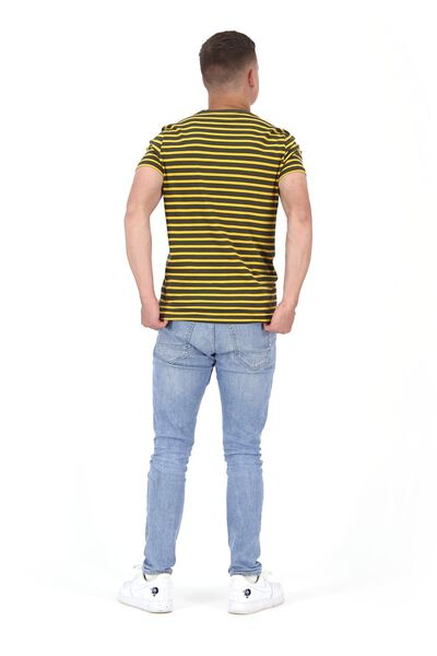 heren t-shirt strepen legergroen legergroen - 1000021755 - HEMA