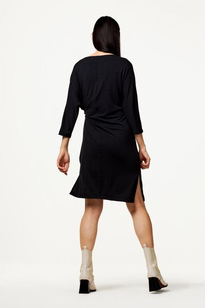 damesjurk met strik zwart M - 36228367 - HEMA
