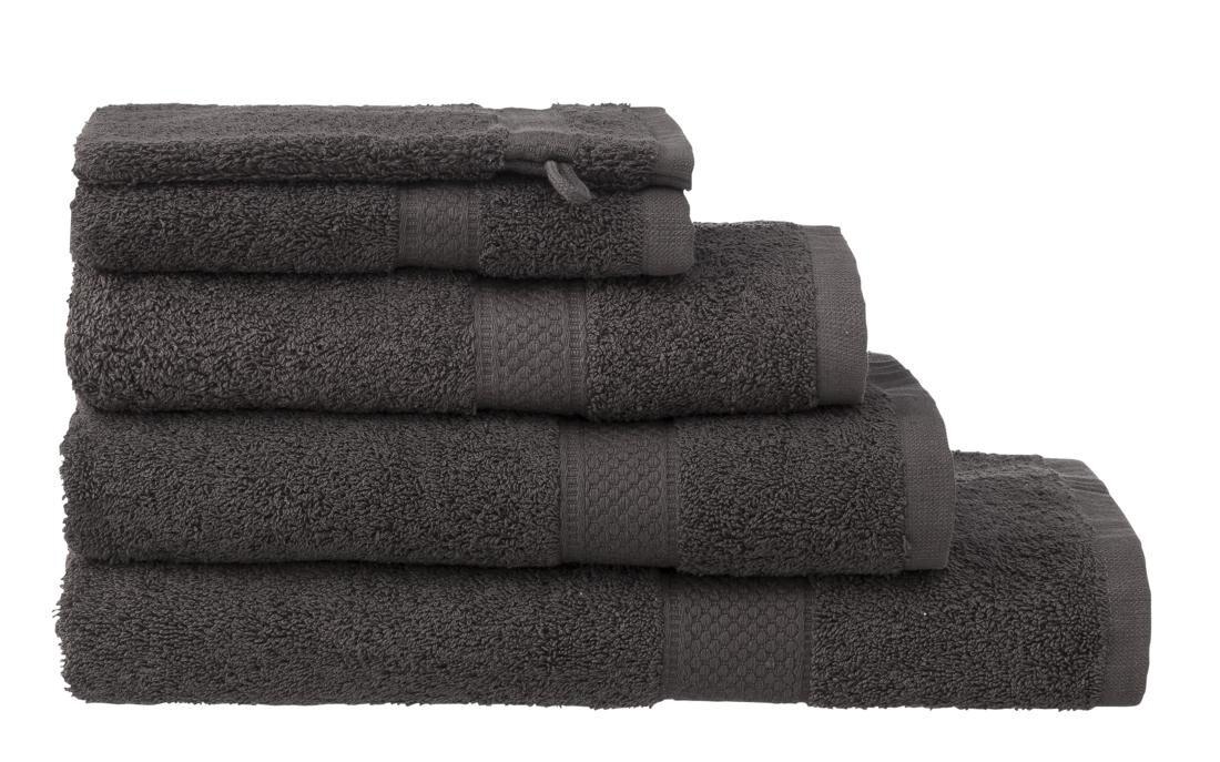 HEMA Handdoeken - Zware Kwaliteit Donkergrijs (donkergrijs)