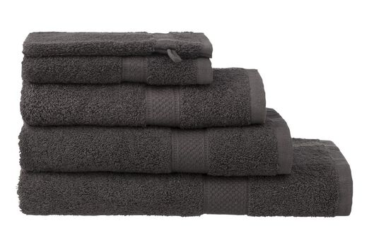 handdoeken - zware kwaliteit donkergrijs donkergrijs - 1000015180 - HEMA