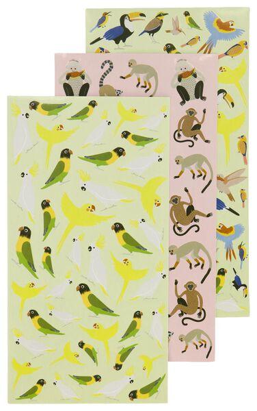 stickers 19x10 dieren - 3 vel - 14590340 - HEMA