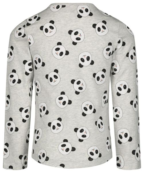 kinderpyjama met bamboe panda grijsmelange grijsmelange - 1000021077 - HEMA