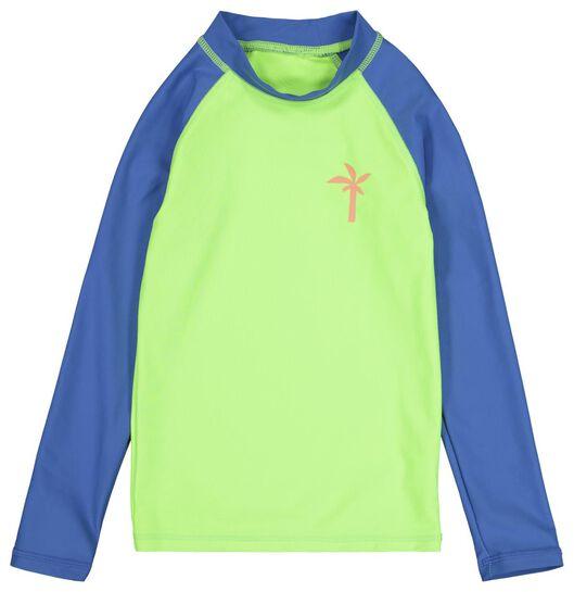 kinderzwemshirt met UPF 50+ groen 134/140 - 22291710 - HEMA