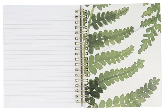 notitieboek 16.5x13 - bladeren - 14126683 - HEMA