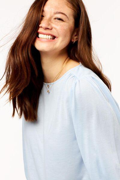 dames t-shirt lichtblauw lichtblauw - 1000024818 - HEMA