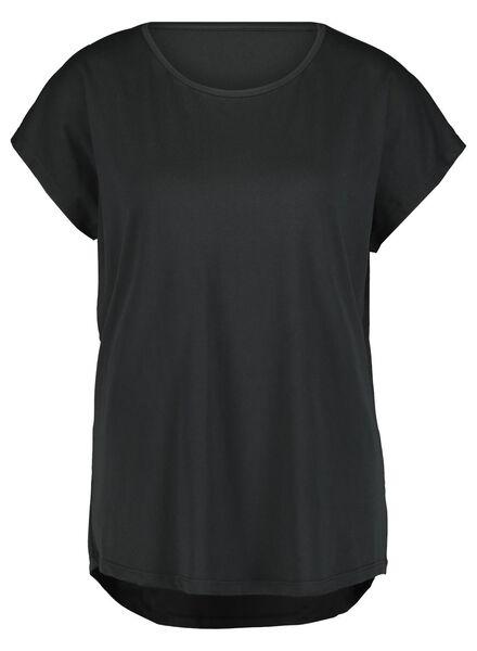 dames sportshirt gerecycled zwart zwart - 1000015345 - HEMA