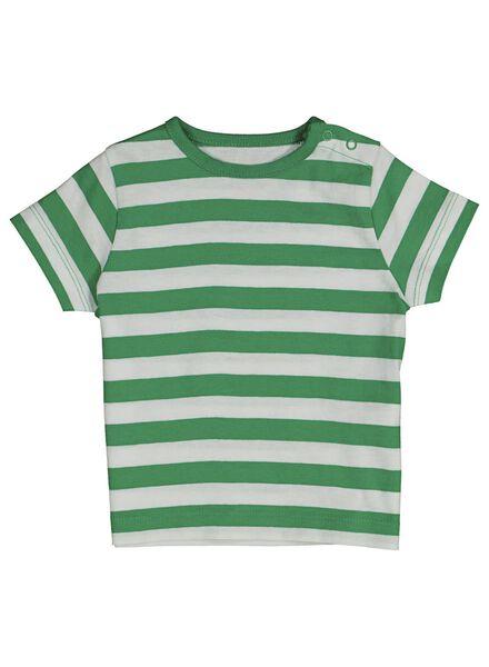 baby t-shirts katoen - 2 stuks groen groen - 1000013871 - HEMA