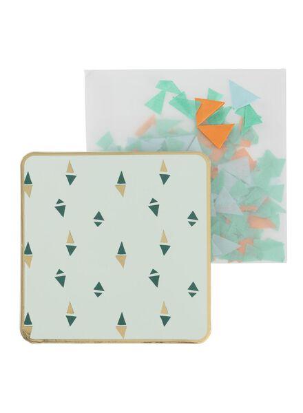 wenskaart met confetti - 60800627 - HEMA