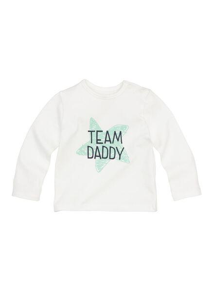 newborn t-shirt gebroken wit gebroken wit - 1000013414 - HEMA