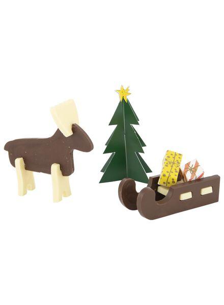 chocolade rendier en slee bouwpakket - 10000157 - HEMA
