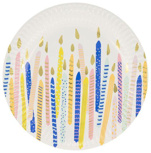 papieren bordjes - 22.5 cm - verjaardag - 8 stuks - 14230177 - HEMA