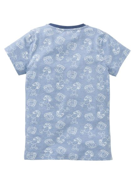 meisjes pyjama middenblauw middenblauw - 1000002833 - HEMA