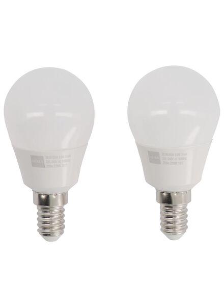 LED lamp 25W - 250 lm - kogel - mat - 2 stuks - 20090034 - HEMA