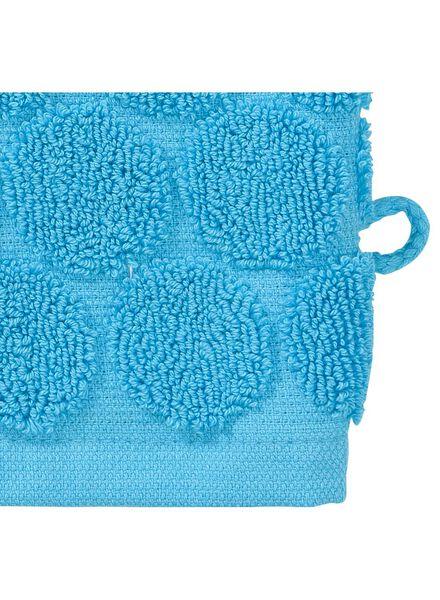 washandje zware kwaliteit - stip - aqua - 5200066 - HEMA