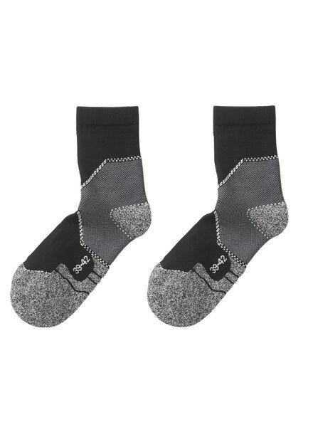 2-pak wandelsokken zwart zwart - 1000002099 - HEMA