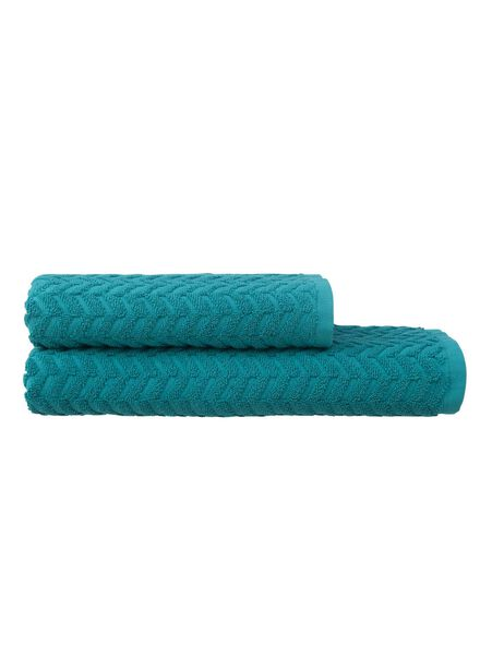 baddoek zware kwaliteit 70 x 140 - donkergroen - 5240202 - HEMA