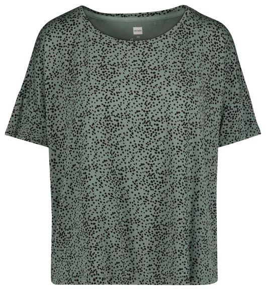 dames nacht t-shirt groen groen - 1000019781 - HEMA