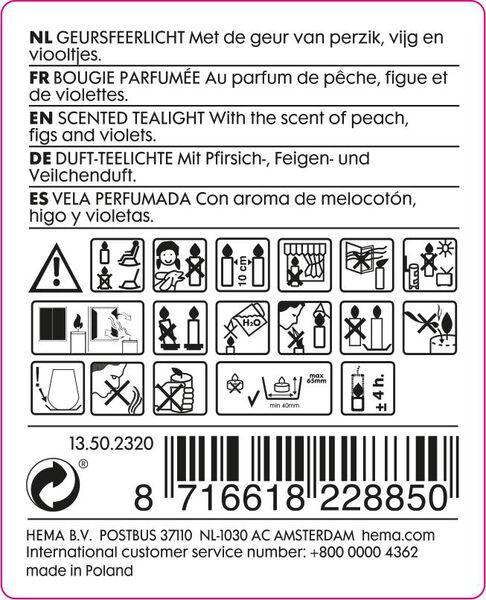 18-pak geur sfeerlichten fig - 13502320 - HEMA