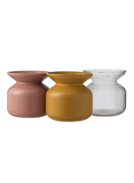 Dagaanbieding - vaas - 18 x Ø 9 cm - transparant streep dagelijkse koopjes