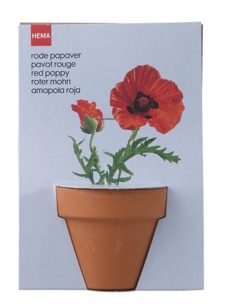 plantzaad voor rode papavers in pot - 41820046 - HEMA
