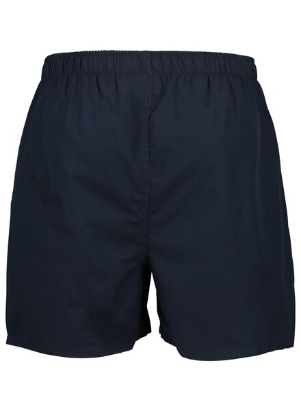 2-pak herenboxers geweven donkerblauw donkerblauw - 1000015716 - HEMA