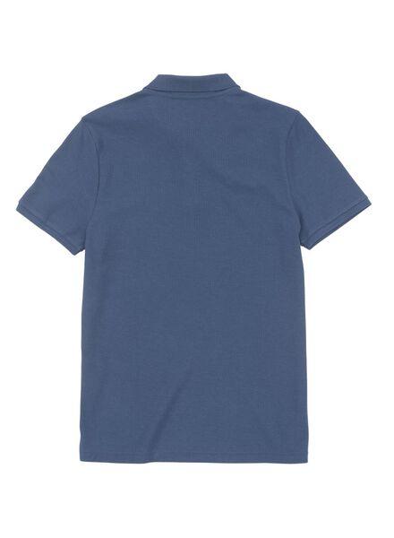herenpolo blauw blauw - 1000009600 - HEMA