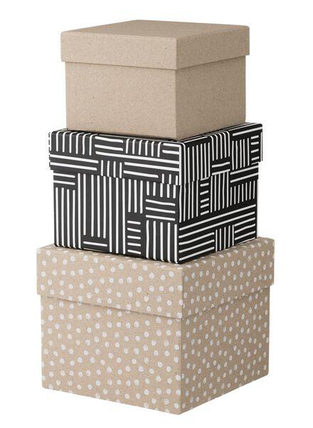 3-pak kartonnen doosjes - 39870029 - HEMA