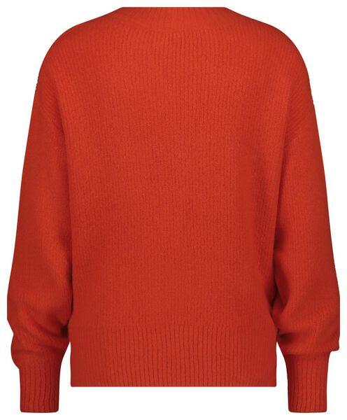 damestrui met v-hals gebreid oranje oranje - 1000021148 - HEMA