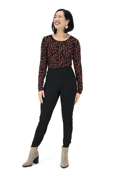 dames t-shirt bruin bruin - 1000017426 - HEMA