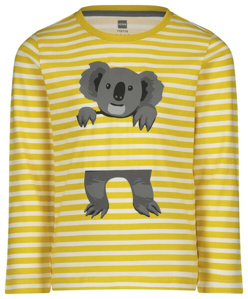 kinderpyjama koala geel 122/128 - 23030464 - HEMA