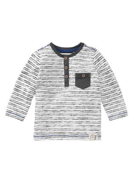 baby t-shirt zwart/wit zwart/wit - 1000008553 - HEMA