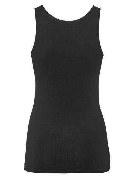 dameshemd real lasting cotton zwart zwart - 1000012827 - HEMA