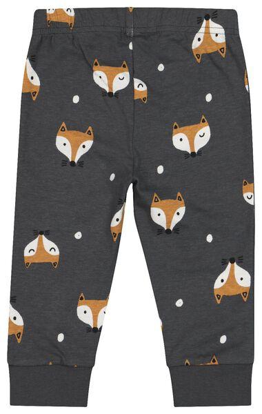 2-pak babypyjama's vos donkergrijs donkergrijs - 1000020633 - HEMA