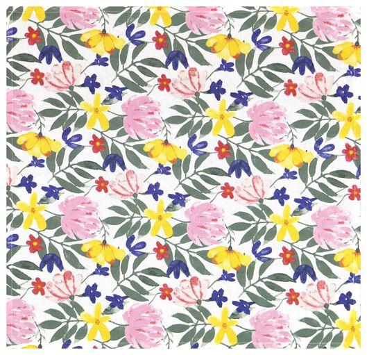 theedoek 65x65 katoen bloemen - 5410125 - HEMA
