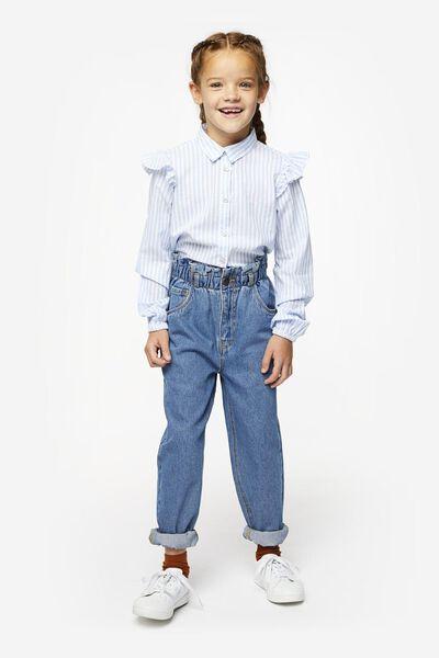 kinderjeans paperbag middenblauw middenblauw - 1000020334 - HEMA