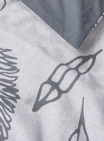 dekbedovertrek - zacht katoen - 240 x 220 cm - grijs veren - 5700090 - HEMA