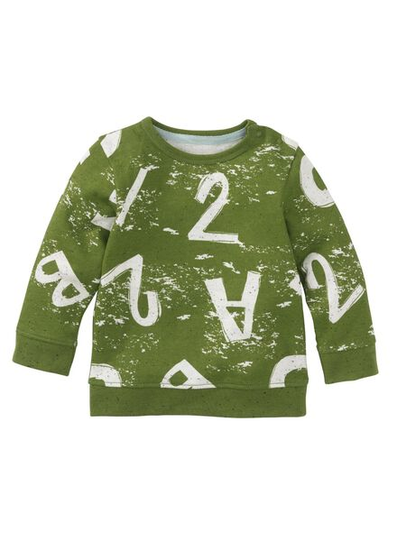 babysweater groen groen - 1000009000 - HEMA