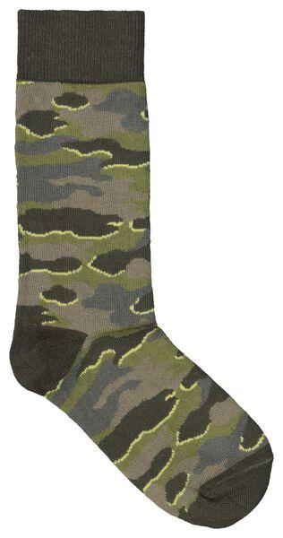 sokken voor volwassenen - mini-me groen groen - 1000019452 - HEMA