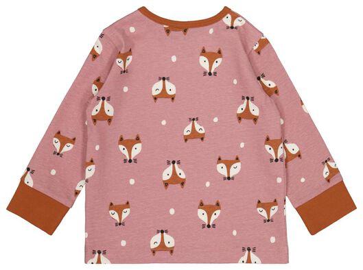 babypyjama's vos - 2 stuks roze 86/92 - 33348622 - HEMA