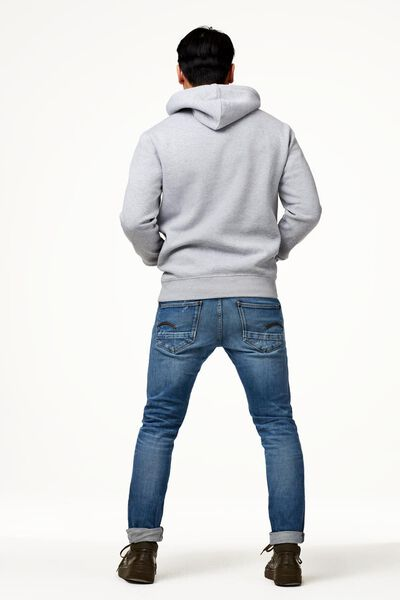 heren capuchonsweater grijsmelange grijsmelange - 1000022451 - HEMA