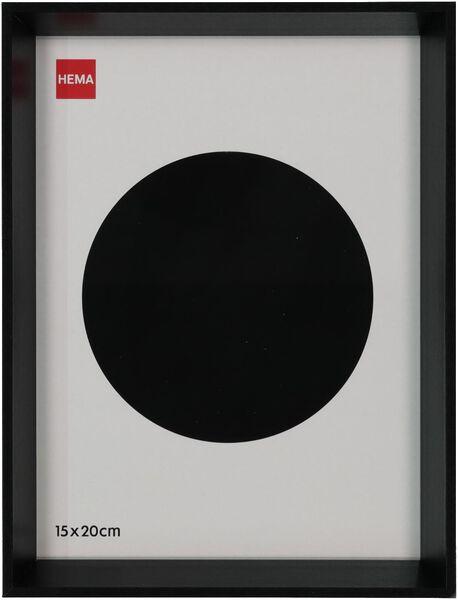 fotolijst hout 15x20 - facetrand zwart - 13621019 - HEMA