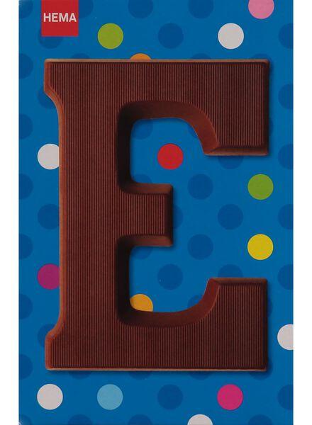 melkchocolade letter E - 10033004 - HEMA