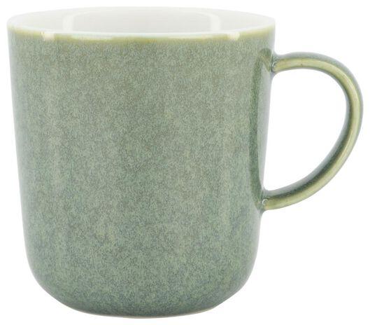 mok Chicago 280 ml - reactief glazuur - groen - 9602159 - HEMA