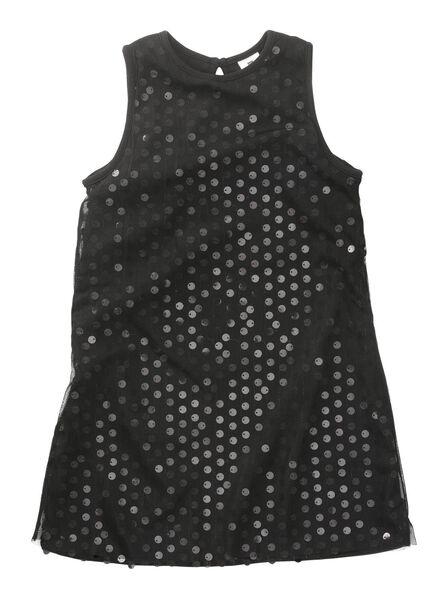 kinderjurk zwart zwart - 1000010843 - HEMA