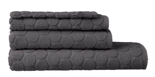 handdoeken - zware kwaliteit - gestipt donkergrijs donkergrijs - 1000015161 - HEMA