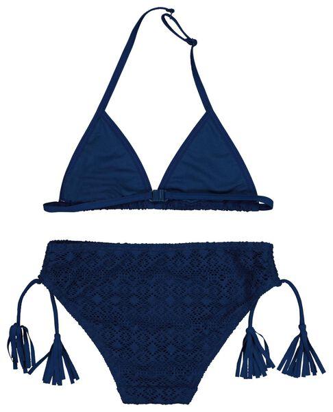 kinderbikini triangel donkerblauw donkerblauw - 1000018205 - HEMA